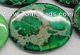 CDI188 15.5 inches 30*40mm oval dyed imperial jasper beads