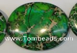 CDI189 15.5 inches 35*45mm oval dyed imperial jasper beads