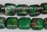 CDI193 15.5 inches 14*14mm square dyed imperial jasper beads