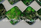 CDI207 15.5 inches 20*20mm diamond dyed imperial jasper beads