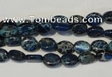 CDI233 15.5 inches 6*8mm oval dyed imperial jasper beads