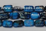 CDI244 15.5 inches 10*14mm rectangle dyed imperial jasper beads