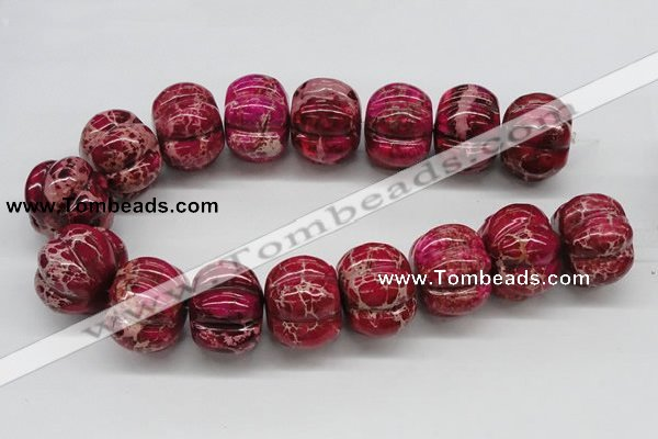 CDI25 16 inches 26*35mm pumpkin dyed imperial jasper beads