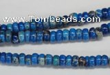 CDI273 15.5 inches 3*6mm rondelle dyed imperial jasper beads