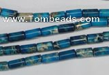 CDI278 15.5 inches 4*8mm tube dyed imperial jasper beads