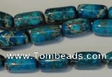 CDI285 15.5 inches 8*16mm column dyed imperial jasper beads