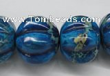 CDI297 15.5 inches 19*23mm pumpkin dyed imperial jasper beads