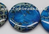 CDI310 15.5 inches 40mm flat round dyed imperial jasper beads