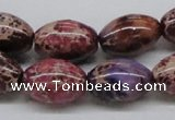 CDI32 16 inches 13*18mm rice dyed imperial jasper beads wholesale