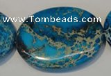 CDI320 15.5 inches 35*45mm oval dyed imperial jasper beads