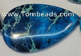 CDI328 15.5 inches 30*50mm flat teardrop dyed imperial jasper beads