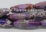 CDI33 16 inches 10*30mm rice dyed imperial jasper beads wholesale