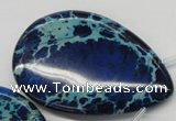 CDI346 Top-drilled 40*60mm flat teardrop dyed imperial jasper beads