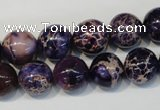 CDI364 15.5 inches 12mm round dyed imperial jasper beads