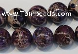 CDI365 15.5 inches 14mm round dyed imperial jasper beads