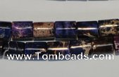 CDI380 15.5 inches 8*10mm tube dyed imperial jasper beads