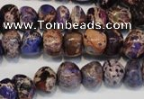 CDI391 15.5 inches 8*12mm nugget dyed imperial jasper beads