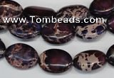 CDI417 15.5 inches 12*16mm oval dyed imperial jasper beads