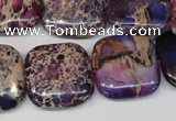 CDI428 15.5 inches 20*20mm square dyed imperial jasper beads