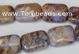 CDI437 15.5 inches 13*18mm rectangle dyed imperial jasper beads