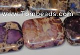 CDI440 15.5 inches 20*30mm rectangle dyed imperial jasper beads