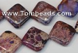 CDI445 15.5 inches 16*16mm diamond dyed imperial jasper beads