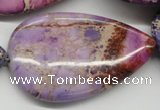 CDI463 15.5 inches 30*50mm flat teardrop dyed imperial jasper beads