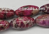 CDI484 15.5 inches 15*30mm rice dyed imperial jasper beads