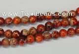 CDI491 15.5 inches 6mm round dyed imperial jasper beads