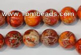 CDI494 15.5 inches 12mm round dyed imperial jasper beads