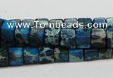CDI52 16 inches 6*6mm cube dyed imperial jasper beads wholesale