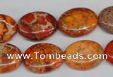 CDI532 15.5 inches 15*20mm oval dyed imperial jasper beads
