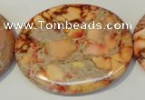 CDI537 15.5 inches 35*45mm oval dyed imperial jasper beads