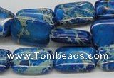 CDI55 16 inches 13*18mm rectangle dyed imperial jasper beads wholesale