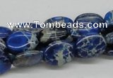 CDI58 16 inches 12*16mm oval dyed imperial jasper beads wholesale