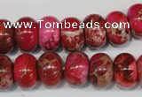 CDI588 15.5 inches 9*14mm rondelle dyed imperial jasper beads