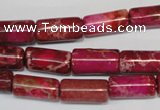 CDI594 15.5 inches 8*16mm tube dyed imperial jasper beads
