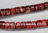 CDI596 15.5 inches 4*8mm tube dyed imperial jasper beads