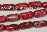 CDI598 15.5 inches 8*16mm column dyed imperial jasper beads