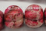CDI610 15.5 inches 22*30mm pumpkin dyed imperial jasper beads