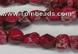 CDI612 15.5 inches 8*10mm faceted nugget dyed imperial jasper beads