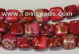 CDI621 15.5 inches 12*12mm square dyed imperial jasper beads
