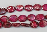 CDI642 15.5 inches 8*10mm oval dyed imperial jasper beads