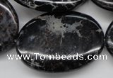 CDI680 15.5 inches 30*40mm oval dyed imperial jasper beads