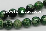 CDI69 16 inches 10mm round dyed imperial jasper beads wholesale