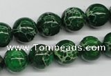 CDI70 16 inches 12mm round dyed imperial jasper beads wholesale