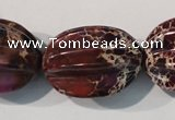 CDI701 15.5 inches 22*28mm star fruit shaped dyed imperial jasper beads
