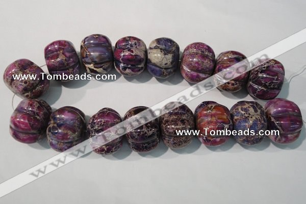 CDI702 15.5 inches 26*32mm pumpkin dyed imperial jasper beads