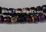 CDI705 15.5 inches 6*8mm nuggets dyed imperial jasper beads