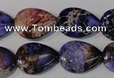 CDI714 15.5 inches 15*20mm flat teardrop dyed imperial jasper beads